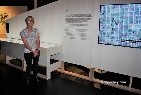 Бельгия, Кортрейк, Музей текстуры (фр. «Texture»). Выставка «Bio-lace» («Биологическое кружево»), 21 августа 2018 г. Экскурсовод.