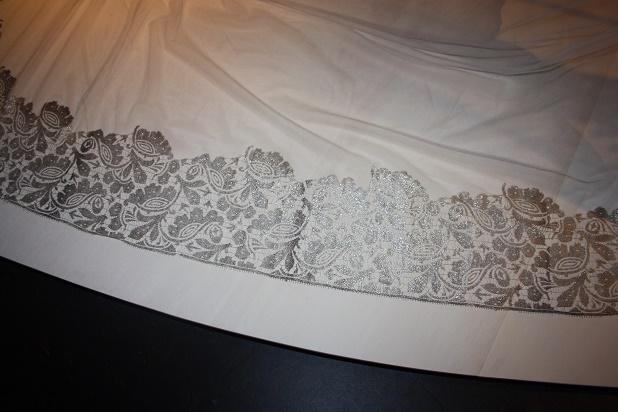 Фрагмент. Свадебная вуаль (фата). Кружево машинного производства. Конец 1920-х г.