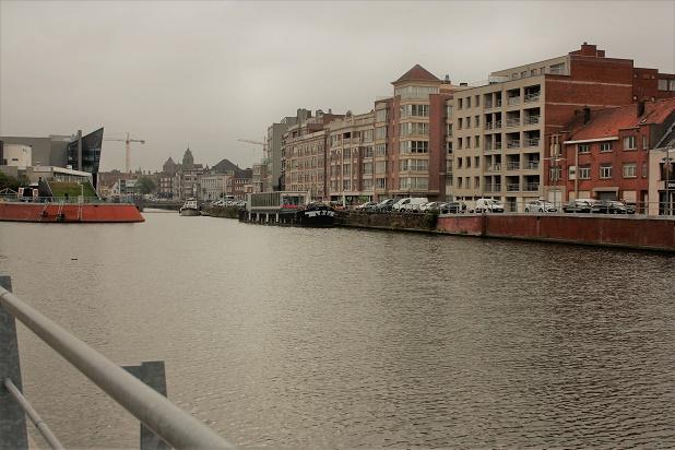 Бельгия. Кортрейк. Вид на город от Музея текстуры.