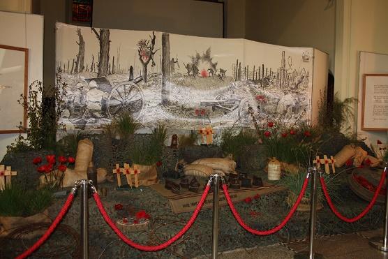 Ипр. Колледж святого Святого Винсента. Выставка «Кружево войны». 20 августа 2018 г.