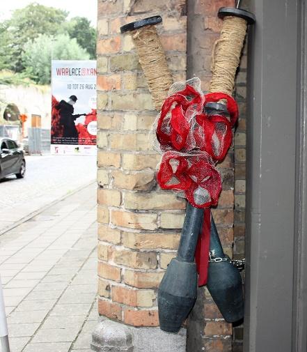 Ипр. Вход на выставку «Кружево войны». 20 августа 2018 г.