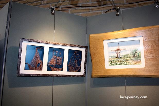 """Ипр. Выставка кружевных работ студии """"De Kersecorf""""."""